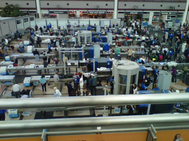 Denver Airport security assembly line