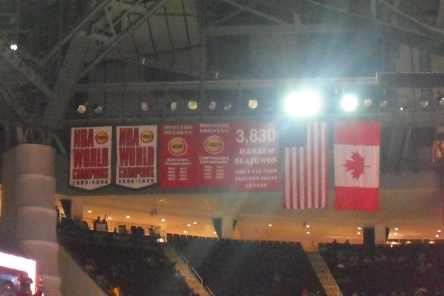 Those championship banners are looking a little lonely.