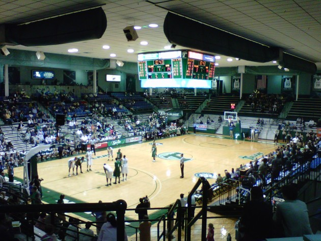 Fogelman Arena. Do you see 2,600 people in there?