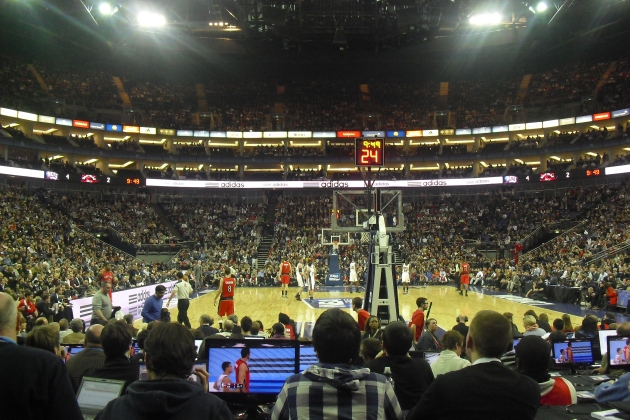 Looks just like a Nets game, only packed!