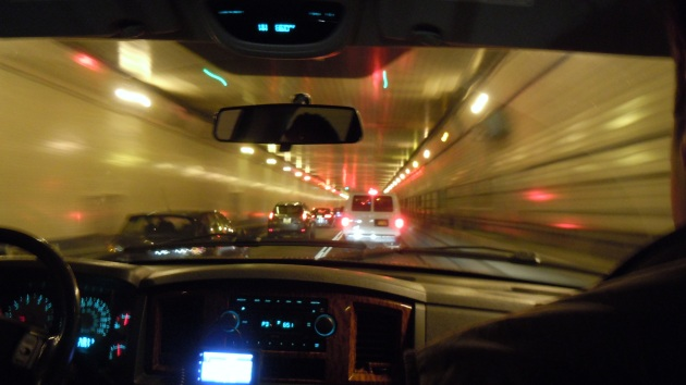 New Jersey Tunnel... We're making great time!