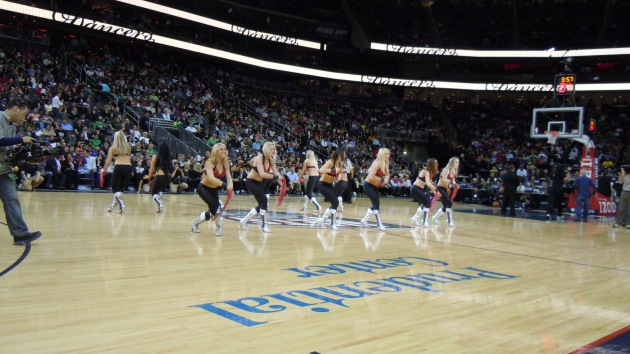 The Nets dancers, a year before they changed their name to the Brooklynettes.