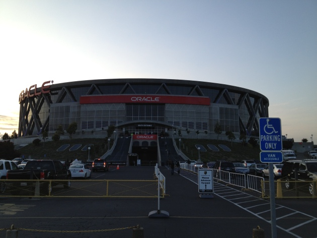 The Oracle Center is the home of the Golden State Warriors. Looks funky from the outside, not so cool inside.