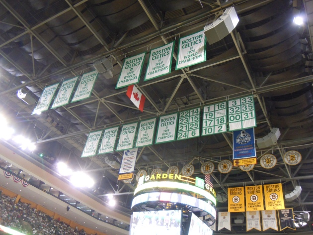 The banners were a fine distraction from the freaks and the game. Big shout out to #35, departed captain Reggie Lewis