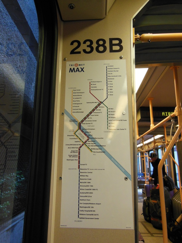 The Max overground train map; my bible for 24 hours