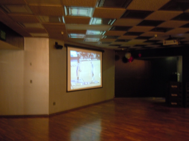 An empty dancefloor at Power Balance Pavillion in Sacramento.