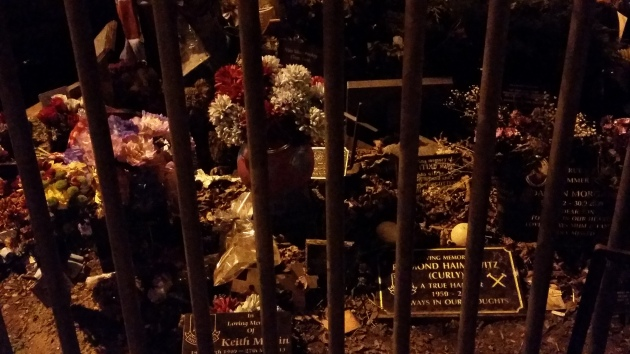A small burial site just outside the stadium (by the car park?!) for Hammers die-hards, no pun intended.