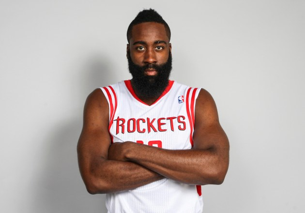 NBA MVP Candidate and hipster or jihadi? You decide.  (Photo credit: Troy Taormina-USA TODAY Sports)